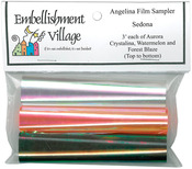 "Sedona -Aurora, Forest Blaze, Watermelon - Angelina Film Sampler 4""X3' 3/Pkg"
