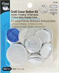 Size 45 10/Pkg - Craft Cover Button Kits