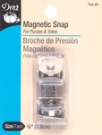 "Nickel - Round Magnetic Snap 3/4"" 1/Pkg"