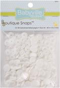White - Babyville Boutique Snaps Size 20 60/Pkg