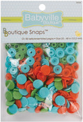 Playful Pond - Green, Blue & Orange - Babyville Boutique Snaps Size 20 60/Pkg