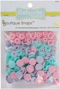 Butterflies - Pink, Purple & Blue - Babyville Boutique Snaps Size 20 60/Pkg