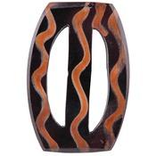 """Handmade Horn Buckle - Wavy Oval 2-1/4""""X3-5/8"""""""