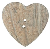 "1-1/2"" Heart 1/Pkg - Handmade Coconut Button"