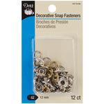 "Nickel- Filigree Circle - Decorative Snap Fasteners 1/2"" 12/Pkg"
