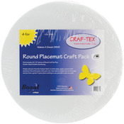 "16"" 4/Pkg - Craf-Tex Round Place Mat Craft Pack"
