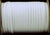 """White - Braided Elastic 1/4""""X144yd"""
