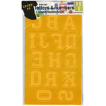 """Gold - Soft Flock Iron-On Letters & Numbers 1.75"""" Collegiate"""