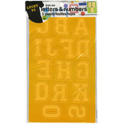 "Gold - Soft Flock Iron-On Letters & Numbers 1.75"" Collegiate"