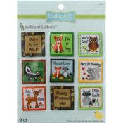 Forest Friends - Babyville Boutique Labels 9/Pkg