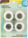 """White - Curtain Grommets 1"""" Inner Diameter Plastic 8/Pkg"""