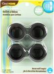 """Matte Black - Curtain Grommets 1"""" Inner Diameter Plastic 8/Pkg"""