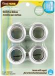 """Brushed Silver - Curtain Grommets 1"""" Inner Diameter Plastic 8/Pkg"""