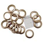 """Matte Gold - Curtain Grommets 1"""" Inner Diameter Plastic 8/Pkg"""