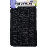 "Black - Soft Flock Iron-On Letters 1"" & 2"" Monogram"
