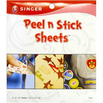 "Clear - Peel N Stick Sheets 5""X5"" 6/Pkg"
