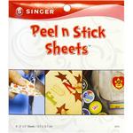 "Clear - Peel N Stick Sheets 5""X5"" 6/Pkg"