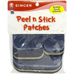 Assorted Denim & Twill - Peel N Stick Patches Assorted Sizes 18/Pkg