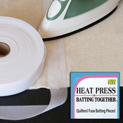 "1.5""X100yd - Heat Press Batting Together - White"