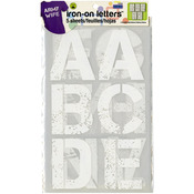 """White - Soft Flex Iron-On Letters 3"""" Distressed"""