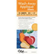 "8.5""X11"" 25/Pkg - Wash-Away Applique Sheets"