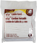 """White - Cable Cord 9/32""""X10yd"""