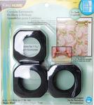 """Matte Black - Square - Curtain Grommets 1-9/16"""" Inner Diameter Plastic 8/Pkg"""
