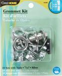 """Silver - Grommet Kit 7/16"""" W/Stud Setter 10/Pkg"""