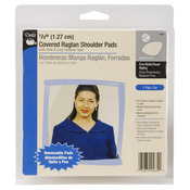 "Beige - 1/2"" Covered Raglan W/Hook & Loop Tape Shoulder Pads 2/Pkg"
