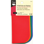 """Bright - Iron-On Twill Patches 5""""X5"""" 4/Pkg"""