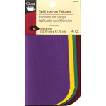 """School Colors - Iron-On Twill Patches 5""""X5"""" 4/Pkg"""