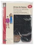 Dark Assortment - Iron-On Repair Patches 20/Pkg