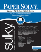 """8.5""""X11"""" 12/Pkg - Paper Solvy Water-Soluble Stabilizer"""