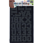 """Black - Iron-On Letters 1.5"""" Athletic"""