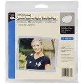 """White - 3/8"""" Covered Teardrop Raglan Shoulder Pads 2/Pkg"""