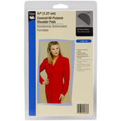 "Black - 1/2"" Covered All-Purpose Shoulder Pads 2/Pkg"