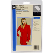 "White - 1/2"" Covered All-Purpose Shoulder Pads 2/Pkg"