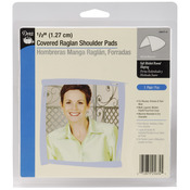 "White - 1/2"" Covered Raglan Shoulder Pads 2/Pkg"