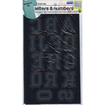 """Black - Soft Flock Iron-On Letters & Numbers 1.75"""" Collegiate"""