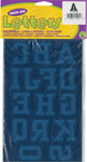 """Royal Blue - Soft Flock Iron-On Letters & Numbers 1.75"""" Collegiate"""