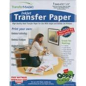 """Ink Jet Transfer Paper 8.5""""X11"""" 7/Pkg"""