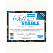 """White 13.5""""X18.5"""" 4/Pkg - ByAnnie's Soft & Stable Project Pack"""