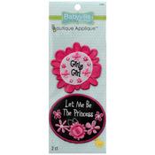 Pink Floral - Babyville Boutique Appliques 2/Pkg