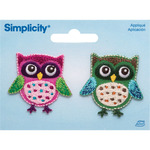 Owls - Simplicity Iron-On Appliques 2/Pkg
