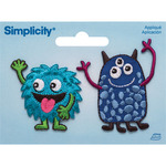 Friendly Monsters - Simplicity Iron-On Appliques 2/Pkg