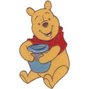 Pooh W/Honey Pot - Disney Winnie The Pooh Iron-On Applique