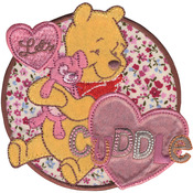 Let's Cuddle - Disney Winnie The Pooh Iron-On Applique