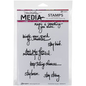 Handwritten Quotes - Dina Wakley Media Cling Stamps