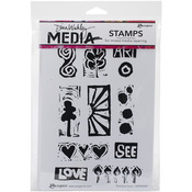 Primitive Icons - Dina Wakley Media Cling Stamps