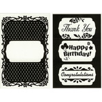 "3-In-1 Polka Dot Frame - CGull Interchangeable Embossing Folder 4.5""X6.5"""